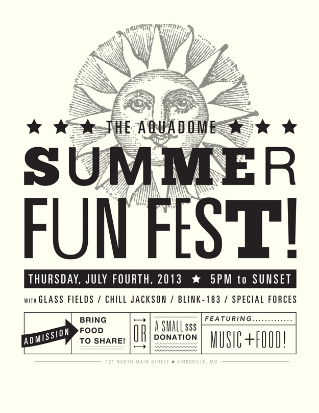 Aquadome Summer Fun Fest flyer