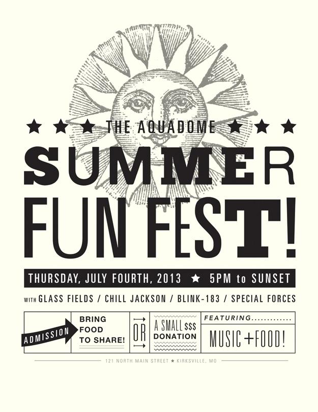 Aquadome Summer Fun Fest flyer