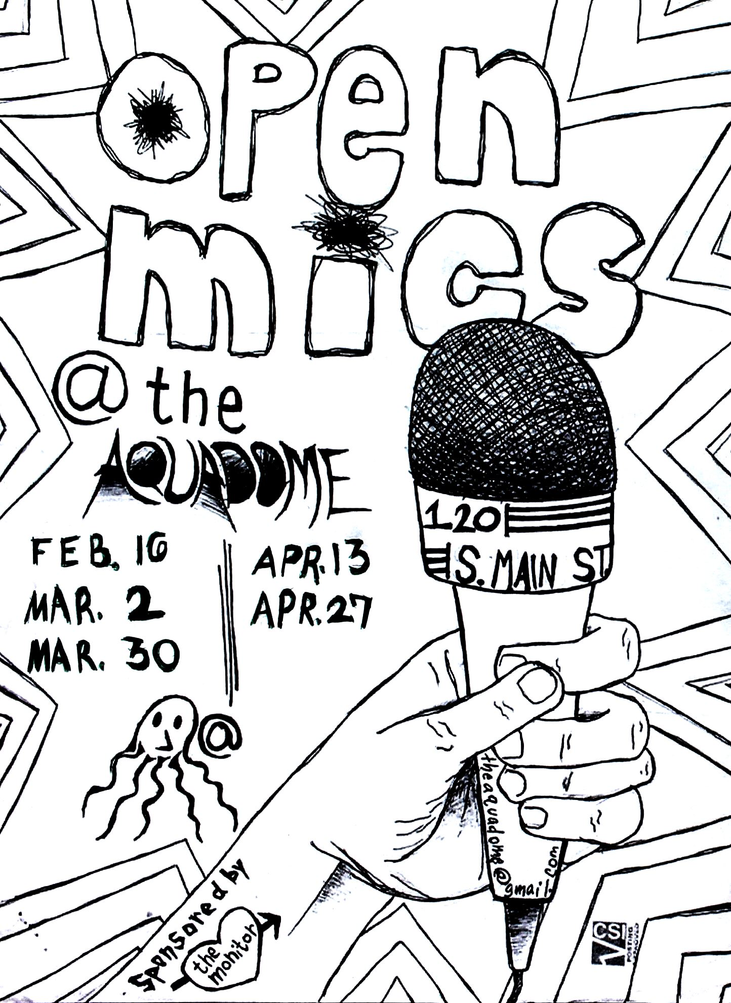 open mic poster spring 2017